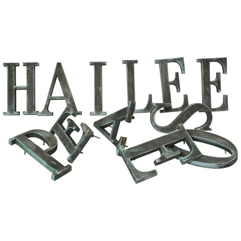 12 Bronze Letters with Serifs, Sold Singly