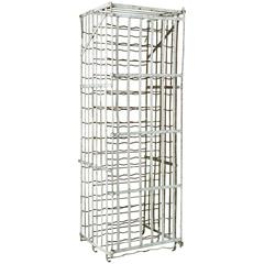 Early 20th Century French Riveted Iron Wine Cage or Wine Rack
