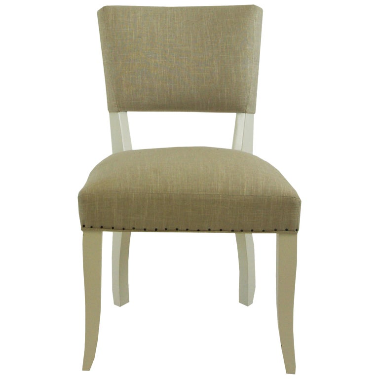 Transitional Armless Dining Chair For Sale