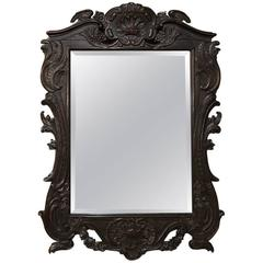 19th Century French Regence Style Carved Wood Mirror