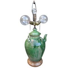 Jug Form Terra Cotta Lamp