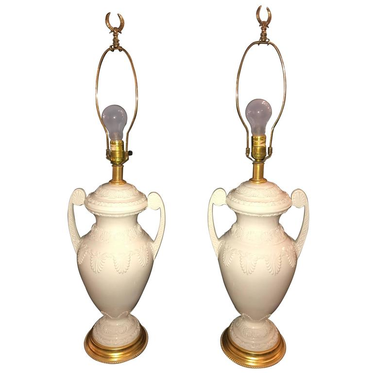 Pair of Lenox Neoclassical Style Table Lamps by Frederick Cooper
