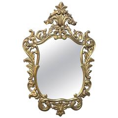 Antique Italian Baroque Giltwood Mirror