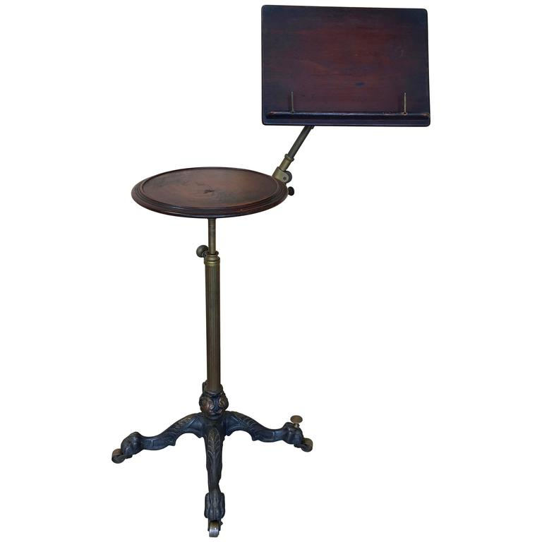 19th century mechanical music stand with candle table moving sale for sale at 1stdibs. Black Bedroom Furniture Sets. Home Design Ideas
