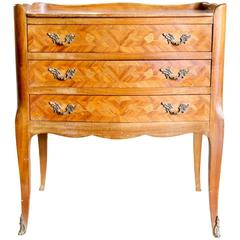 19th Century Louis XVI Style Three-Drawer Petite Commode