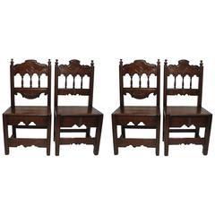 Four Latin American Dining Chairs