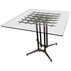 Postmodern California Design Industrial Dinning Table Designed by Robert Josten