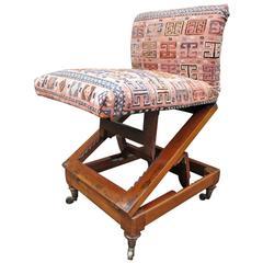 Petite English Metamorphic Slipper Chair