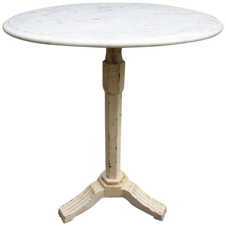 Cast Iron And Marble Bistro Table At 1stdibs