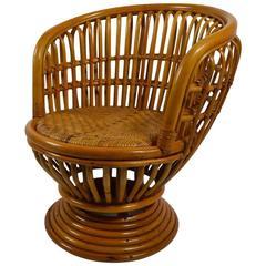 Bamboo Swivel Tilt Lounge Chair