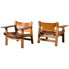 Pair of Early Spanish Chairs by Børge Mogensen