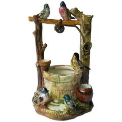 Majolica Bird Well Jerome Massier, circa 1900