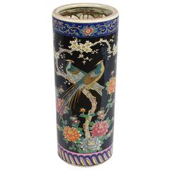 Porcelain Chinoiserie Umbrella Stand
