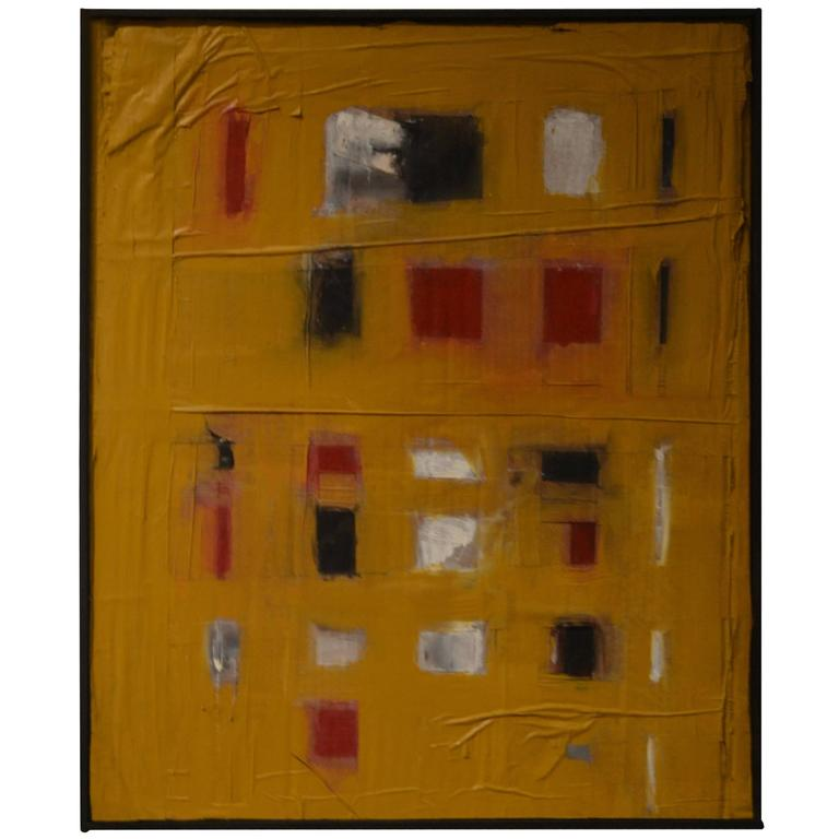 Abstract Mixed-Media Painting by Artist John Luckett For Sale