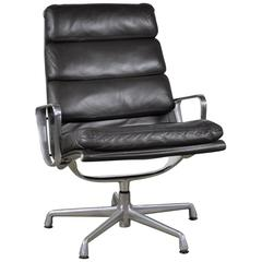 Espresso Leather Eames Soft Pad Executive Lounge Chair by Herman Miller