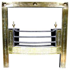 A Very Fine George III Neoclassical Brass Register Grate, Irish Circa 1780