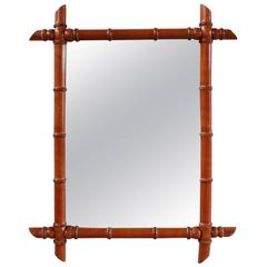 Rectangular French Bamboo Mirror