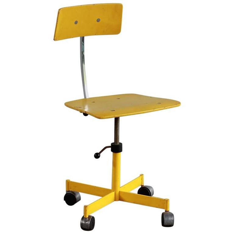 Yellow Kevi Style Desk Chair For