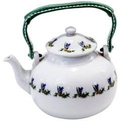 Paris Porcelain Tea Pot Attributed to Jacques Adnet