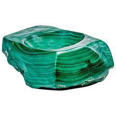 Large Malachite Ashtray or Vide Poche