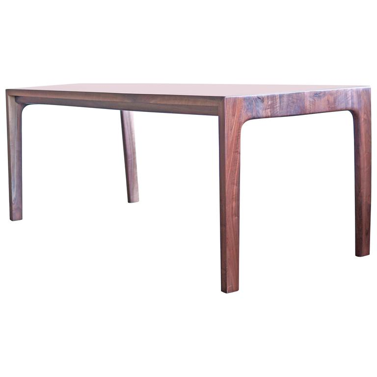 . T05 Contemporary Handmade Walnut Dining Table by Jason Lewis Furniture