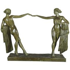 Dancers, Large Bronze by Amadeo Gennarelli, circa 1930