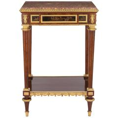 Ormolu-Mounted Mahogany Occasional Table by Henry Dasson