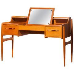 1950s, Beautiful Teak Dressing Table or Ladies Desk