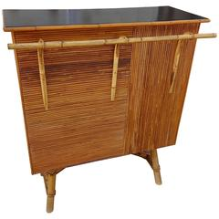 Mid-20th Century French Rattan Bar Counter