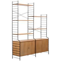 Free-Standing 1960s Shelf, WHB, Elm