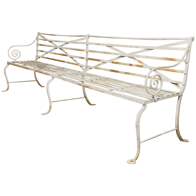 Long Wrought Iron Bench