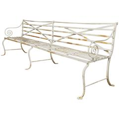 Long Wrought Iron Bench