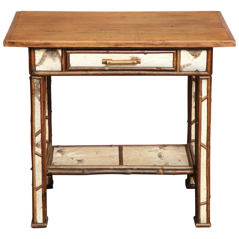 American Birch Wood Writing Table For Sale