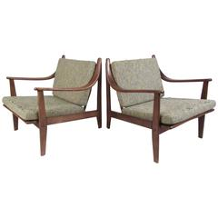 Pair of Mid-Century Finn Juhl Style Lounge Chairs