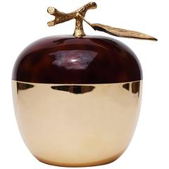 Apple Ice Bucket  Gold and Tortoise Shell- the Turnwald Collection, 1970s