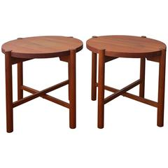 Pair of Japanese Side Tables by Kathuo Mathumura