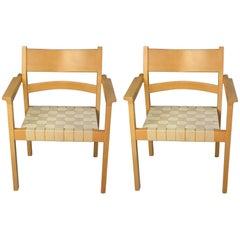 1980´s Hans J. Wegner Koldinghus Armchairs in Beech for Frederecia Møbelfabrik