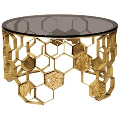 Bee Nest Coffee Table in Matte Brass Finish
