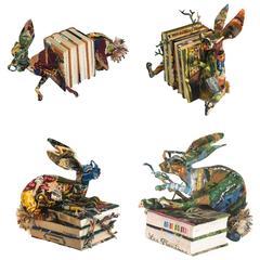 Frederique Morrel Needlepoint Bonny Book in Handwoven Cotton Tapestry