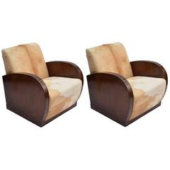 Art Decò Pair of Lounge Chairs