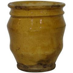 Small French 19th Century Ceramic Glazed Jar