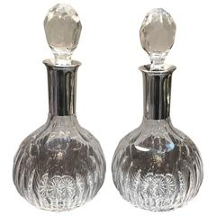 Pair of Baccarat for Cartier Decanters
