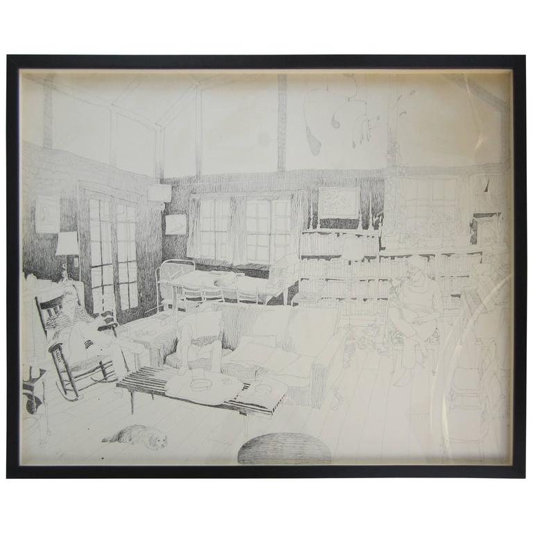 Interior Drawing by Whitney Lee Savage