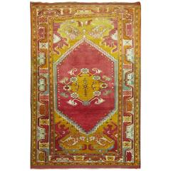 Antique Turkish Scatter Throw Size Rug