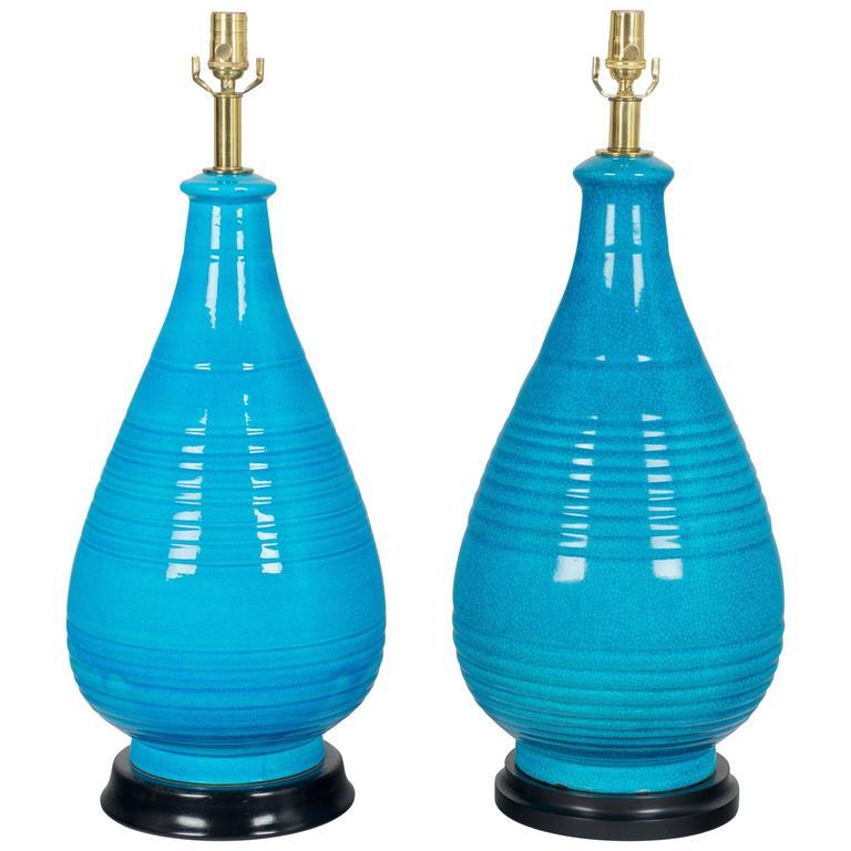 Pair of Large Frederick Cooper Ceramic Lamps