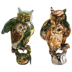 Frederique Morrel Needlepoint Owly OS Born Sculpture Handwoven Cotton Tapestry
