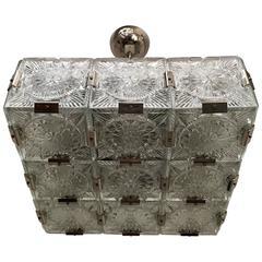 1960s Czech Bohemian Crystal Flush Pendant