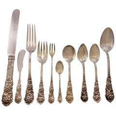 Trajan by Reed and Barton Sterling Silver Flatware Set Service 132 Pcs Dinner