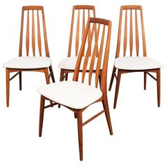 Set of Four Danish Mid-Century Eva Dining Chairs by Niels Kofoed
