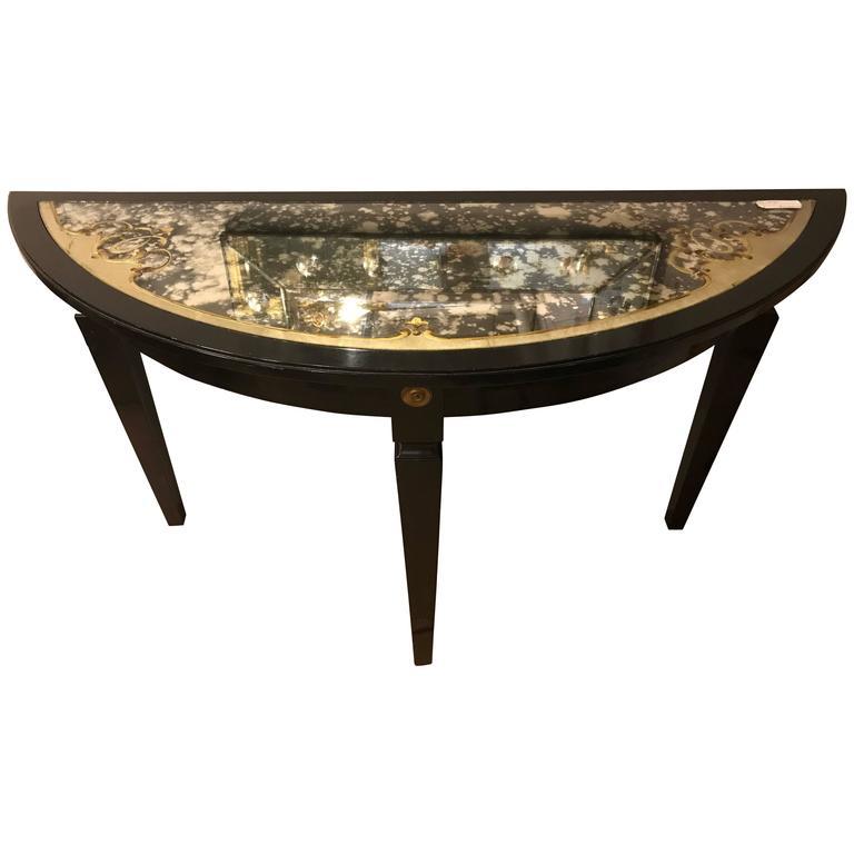 Églomiséd Demilune Console Table by Maison Jansen